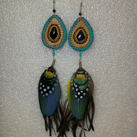 Leather n Feather Earrings 80