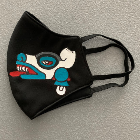 Face mask - hand painted 16