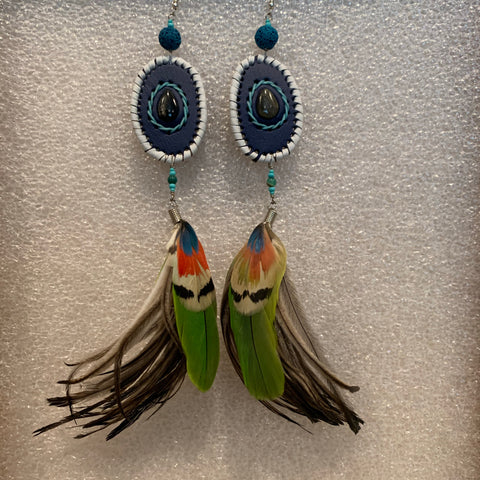Leather n Feather Earrings 53
