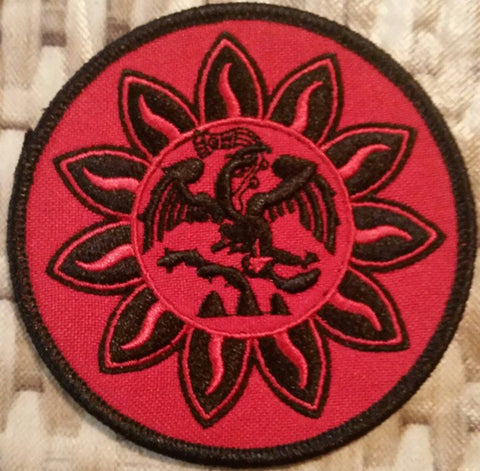 Patch - Mexica Flag 3 inches (Red/Black)