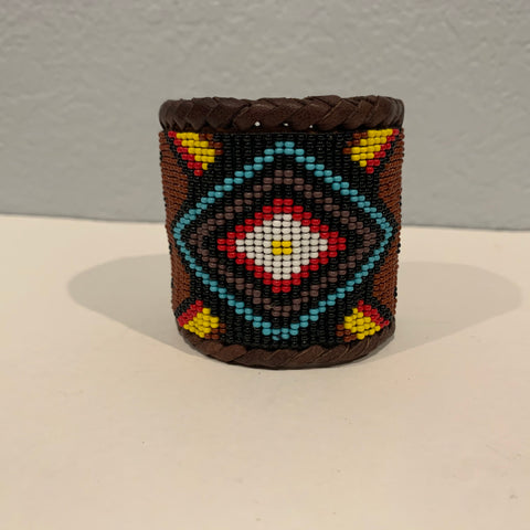 Beaded n leather bracelet 13