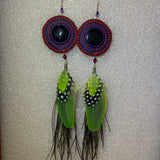 Leather n Feather Earrings 99