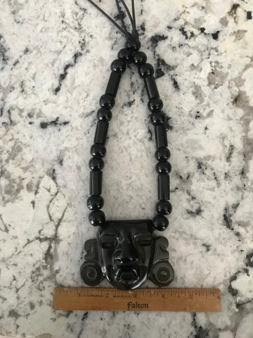 Necklace - Obsidian Teotihuacan mask