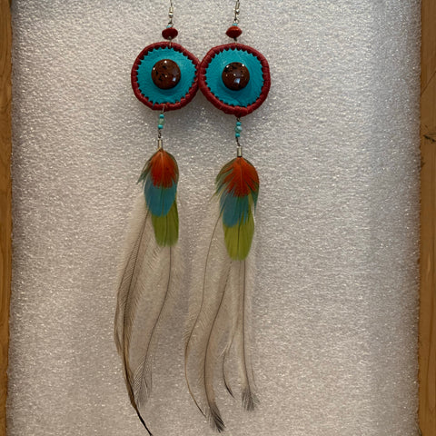 Leather n Feather Earrings 56