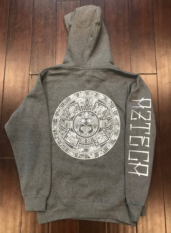 Hoodie - Unisex Aztec Calendar Heather Grey