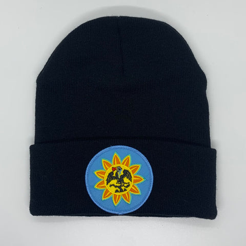 Beanie - Mexica Flag patched (Full color)Black