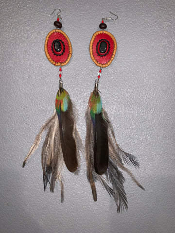 Leather n Feather Earrings 26