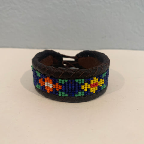 Beaded n leather bracelet 41