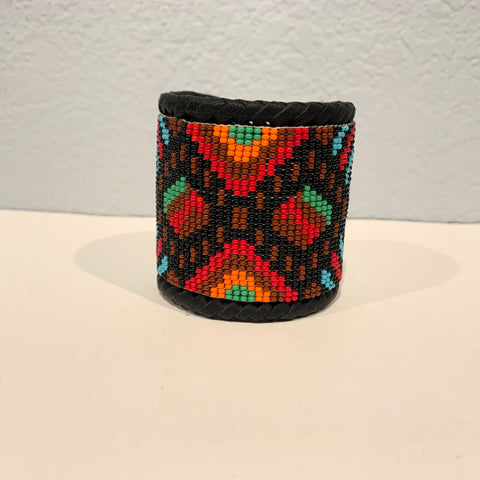 Beaded n leather bracelet 11