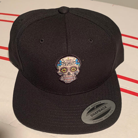 Snapback Hats - Black n Colored Miquiztli | Calaca | Skull