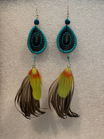 Leather n Feather Earrings 69