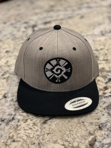 Snapback Hats - Hunab Ku Grey n black