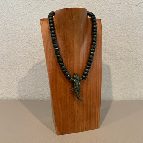 Necklace - Guatamala Jade and Quetzal bird