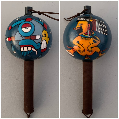 Aztec Dance Rattle painted 3