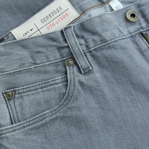 Double Eleven Slim Straight Faded Grey Jean Made in USA