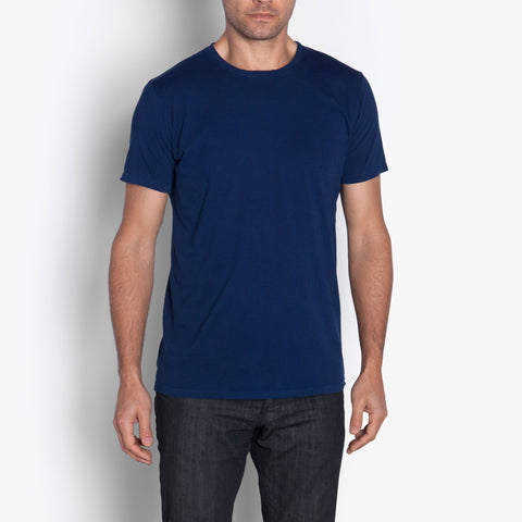 Double Eleven Plant Dyed Dark Indigo T-Shirt Made in USA