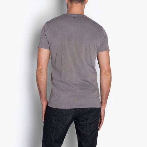 Double Eleven Plant Dyed Grey T-Shirt Made in USA