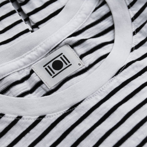 Double Eleven Striped Organic T-Shirt Made in USA