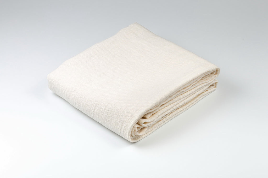 BLESS LINEN Stonewash Pure Linen Flax Bath Towel, White - BLESS LINEN pure linen towels and blankets - 1