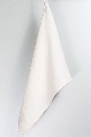 BLESS LINEN Stonewash Pure Linen Flax Bath Towel, White - BLESS LINEN pure linen towels and blankets - 5