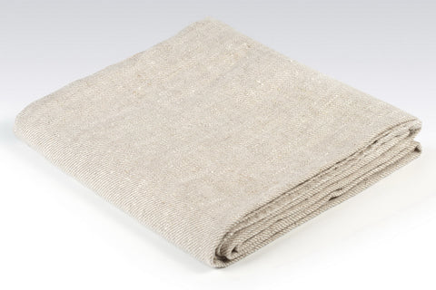 BLESS LINEN Natural Huckaback 100% Linen Bath Towel, 30 x 58 Inches