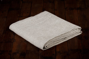 BLESS LINEN Natural Huckaback 100% Linen Bath Towel, 30 x 58 Inches - BLESS LINEN pure linen towels and blankets - 3