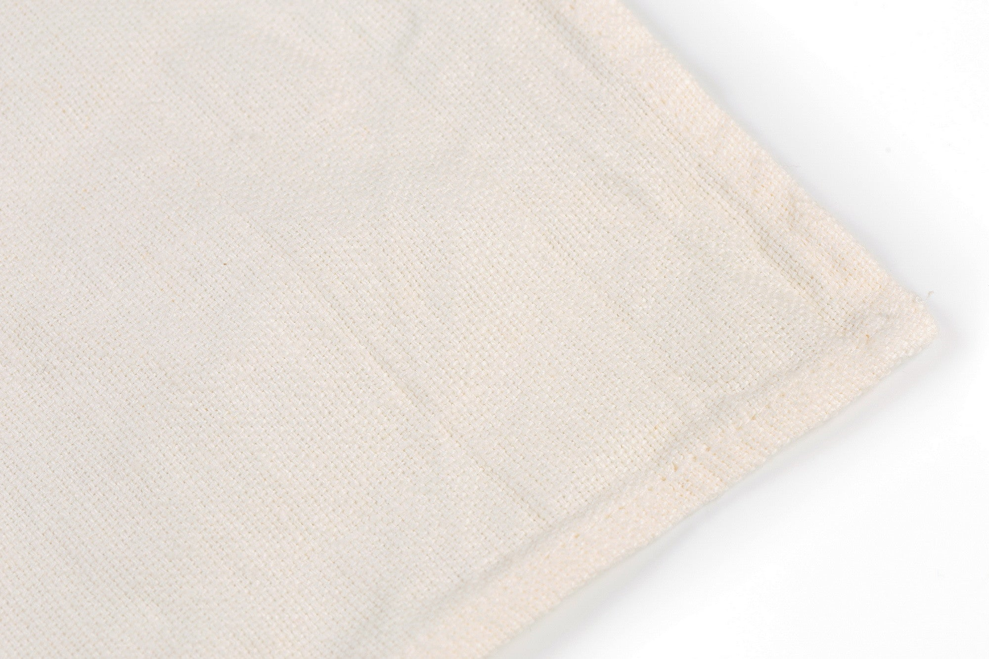 BLESS LINEN Stonewash Pure Linen Flax Hand Kitchen Towel 2-Pack, White - BLESS LINEN pure linen towels and blankets - 2