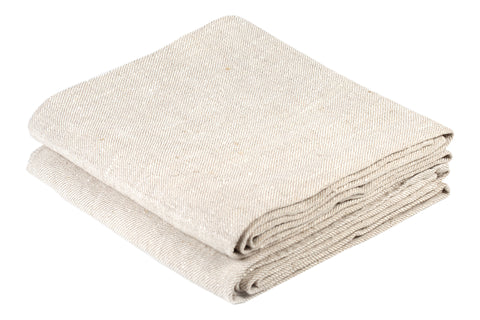 BLESS LINEN Natural Huckaback 100% Linen Hand Kitchen Towel 2-Pack, 16 x 30 Inches