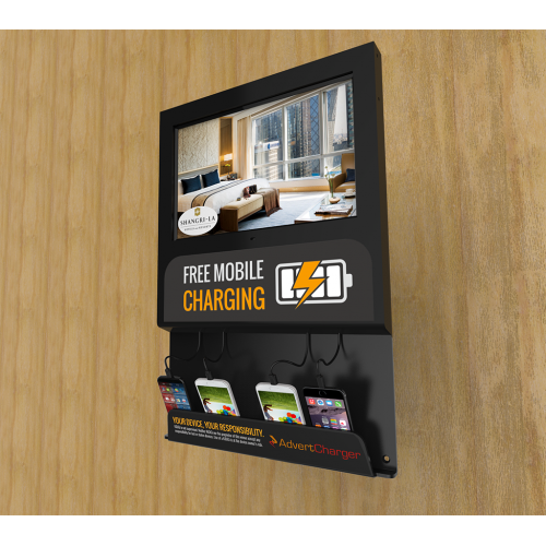 Viewer Pro Wall Mounted Digital Screen Charging Station