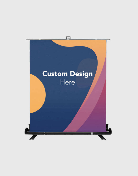 Customized Design Print on Round Frame Stand with Counters for Parties/ Events/ Weddings