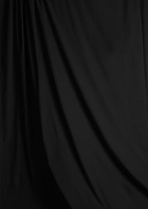 Solid Black Muslin Photography Backdrop