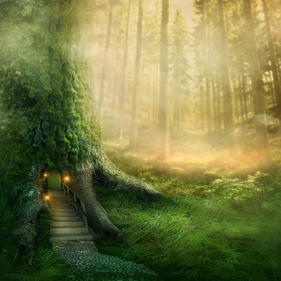 Magical Fantasy Fairy Tale Scenery of Tree House