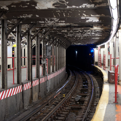 Subway tunnel in New York City subway