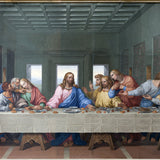 Last Supper of Jesus Christ with twelve apostles on Holy or Maundy Thursday