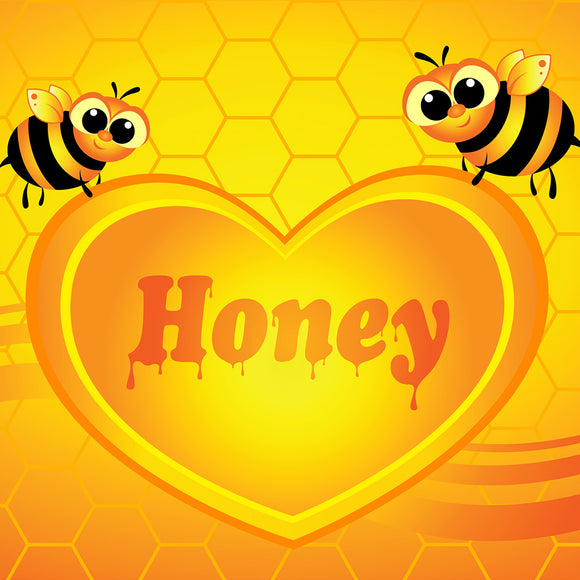 Bees with Honey Heart