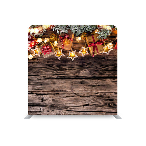 Christmas Decor Lights STRAIGHT TENSION FABRIC MEDIA WALL