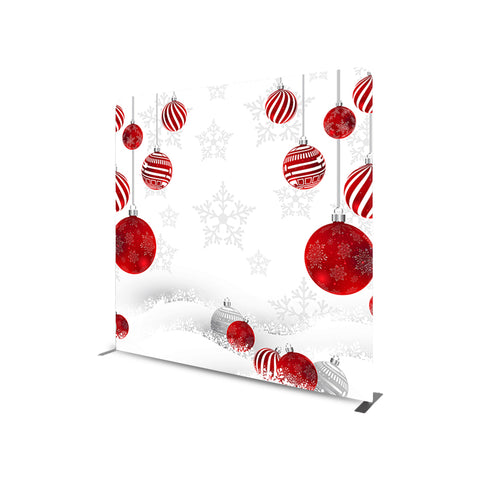 CHRISTMAS DECORATION STRAIGHT TENSION FABRIC MEDIA WALL