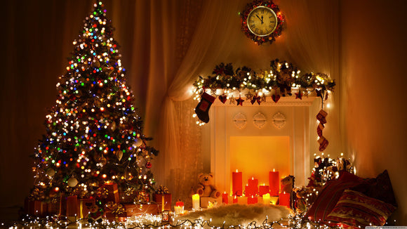 Christmas Room Decoration Print Photography Backdrop