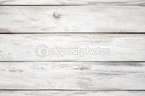 White Distressed Wood Indelible Print Fabric Backdrop