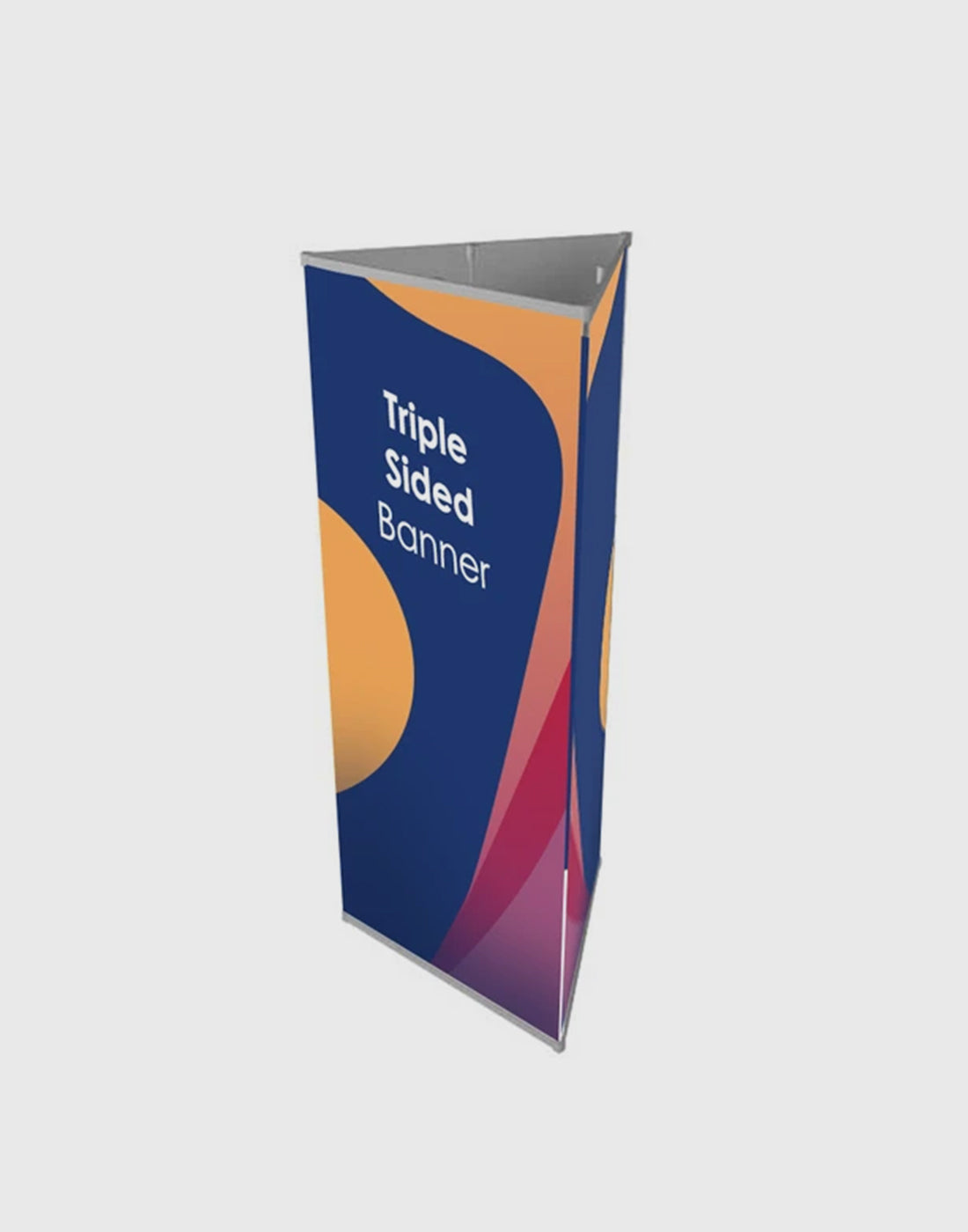 Tri-banner 3 sided Triangle Banner Display Stand