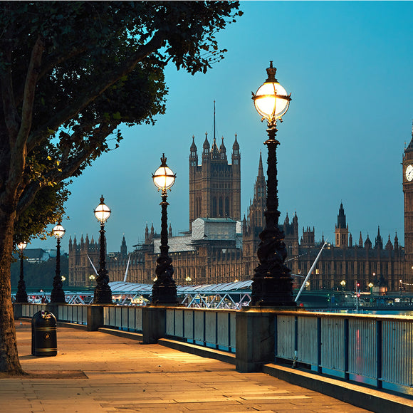 Big Ben and Houses of Parliament in Night London Backdrop