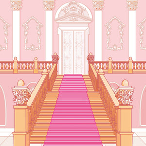 Princess Castle Stairs Background