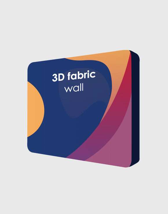 3D Wall Box Tension Fabric Media Display