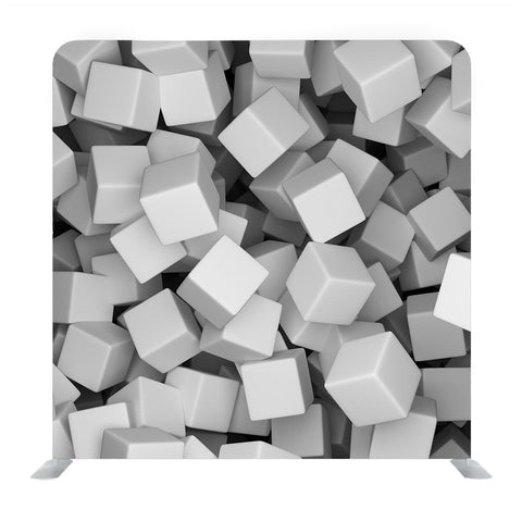 3D Cubes Textured Media Wall