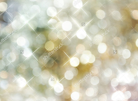 Golden Silver Lights Theme Print Photography Backdrop