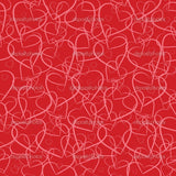 Red Heartin Theme Indelible Print Fabric Backdrop