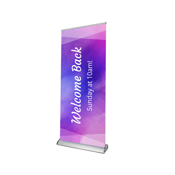 Church Welcome Back Sunday at 10 AM Retractable Banner Stand