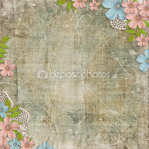 Decorative Flower Wedding Theme Print Photography Backdrop