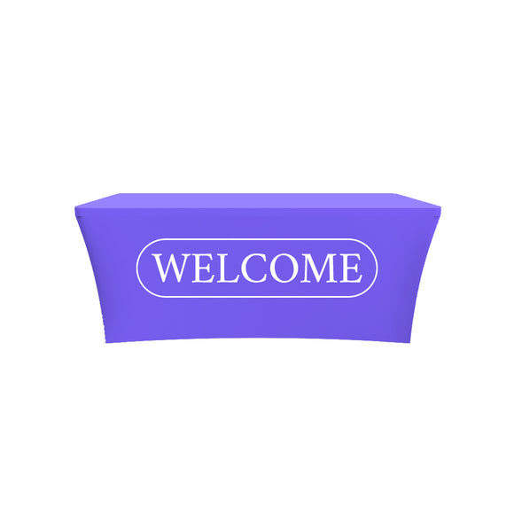 Church Welcome Design Stretched Tablecloth Cover
