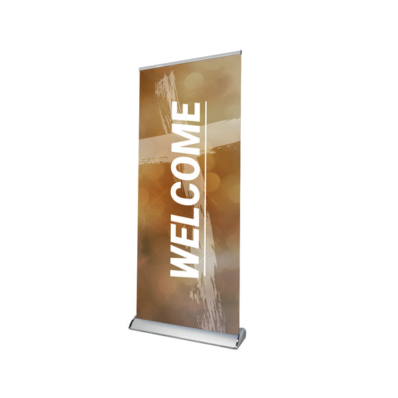 Church Welcome Retractable Banner Stand